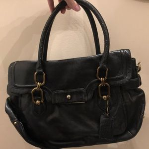 Coach Kristin Snake Embossed Black Leather Purse